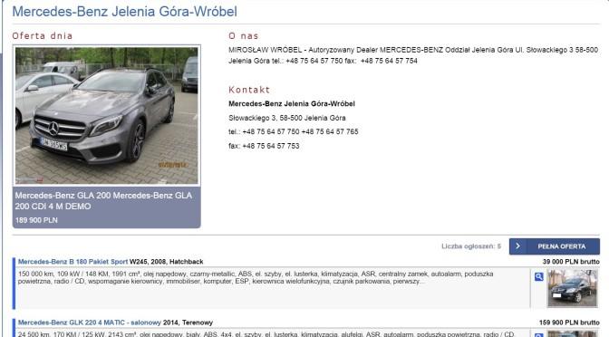 Mercedes-Benz Jelenia Góra Wróbel