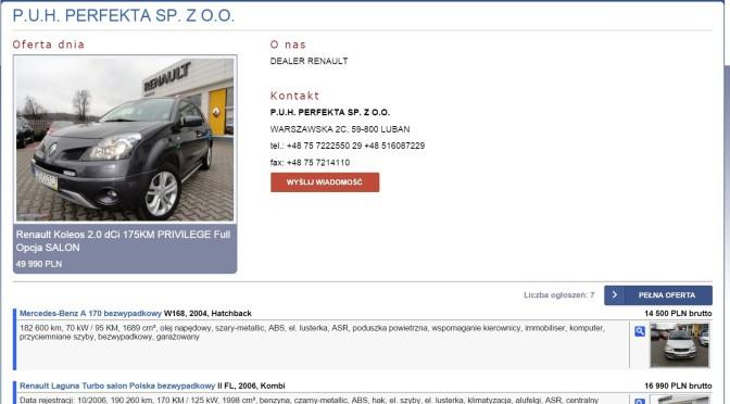 Perfekta dealer Renault